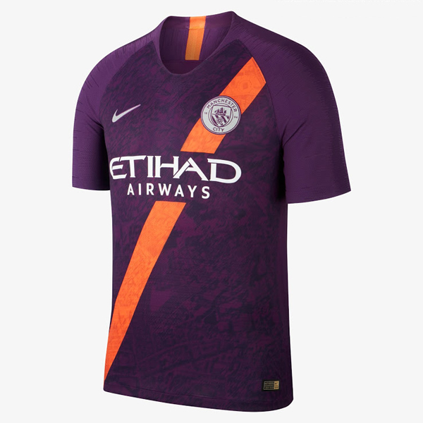 free shipping 7ded3 52d8a 18-19 Manchester City Third Away Purple Soccer Jersey Shirt
